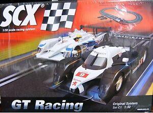 SCX C1 GT Racing 1/32 Slot Car Set Race Audi R10 Peugeot 908 A10111X5