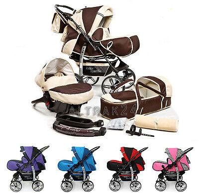 Kombi Kinderwagen Sportwagen Kamel Babyschale Buggy Stroller + Luftreifen