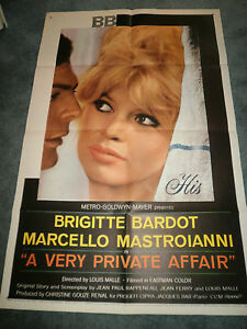 A-VERY-PRIVATE-AFFAIR-1962-BRIGITTE-BARDOT-ORIINAL-ONE-SHEET-POSTER