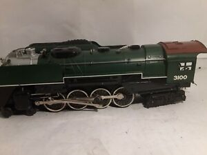 Model-trains-o-gauge-scale-lionel-Lionel-GreatNorthern-3100-and-tender