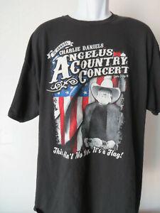 vtg-CHARLIE-DANIELS-BAND-ANGELUS-COUNTRY-CONCERT-t-shirt-tee-Black-xxl-2xl