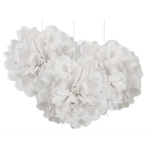 White-Mini-Puff-Balls-3PK-Paper-Party-Decoration-Wedding-Baby-Shower-BBQ