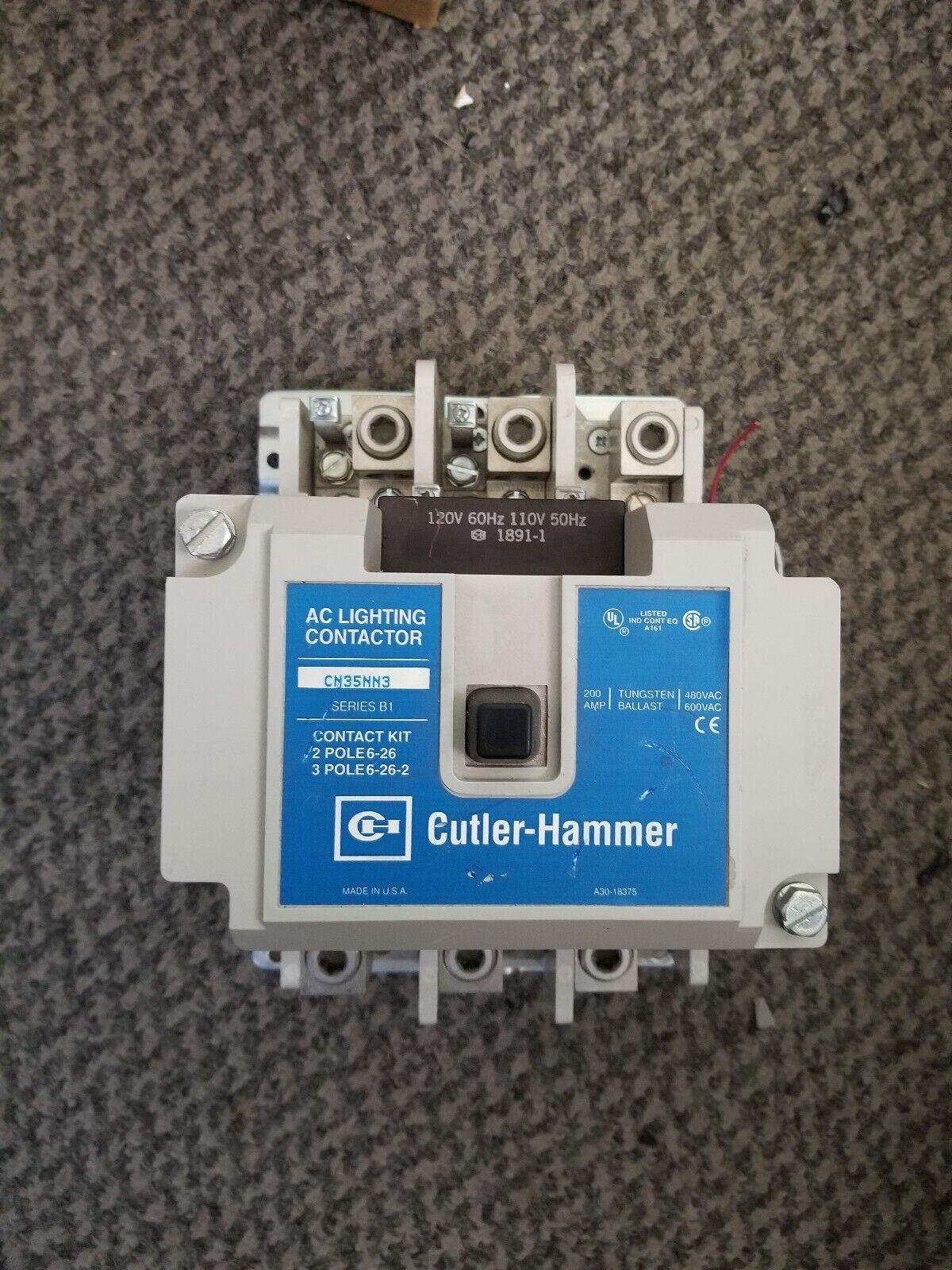 Never used Eaton # CN35NN3 200 amp Lighting Contactor CUTLER HAMMER N.O.S