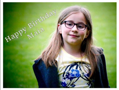 YOUR OWN PERSONALISED PHOTO MESSAGE EDIBLE A4 CAKE TOPPER