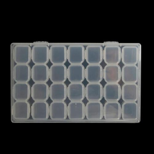 28 Slots Diamond Painting Acceories Jewelry Storage Box Embroidery Case /_