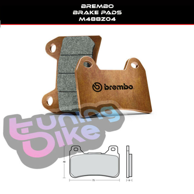BREMBO BRAKE PADS COMPOUND Z04 HONDA CB1000 R 08-16