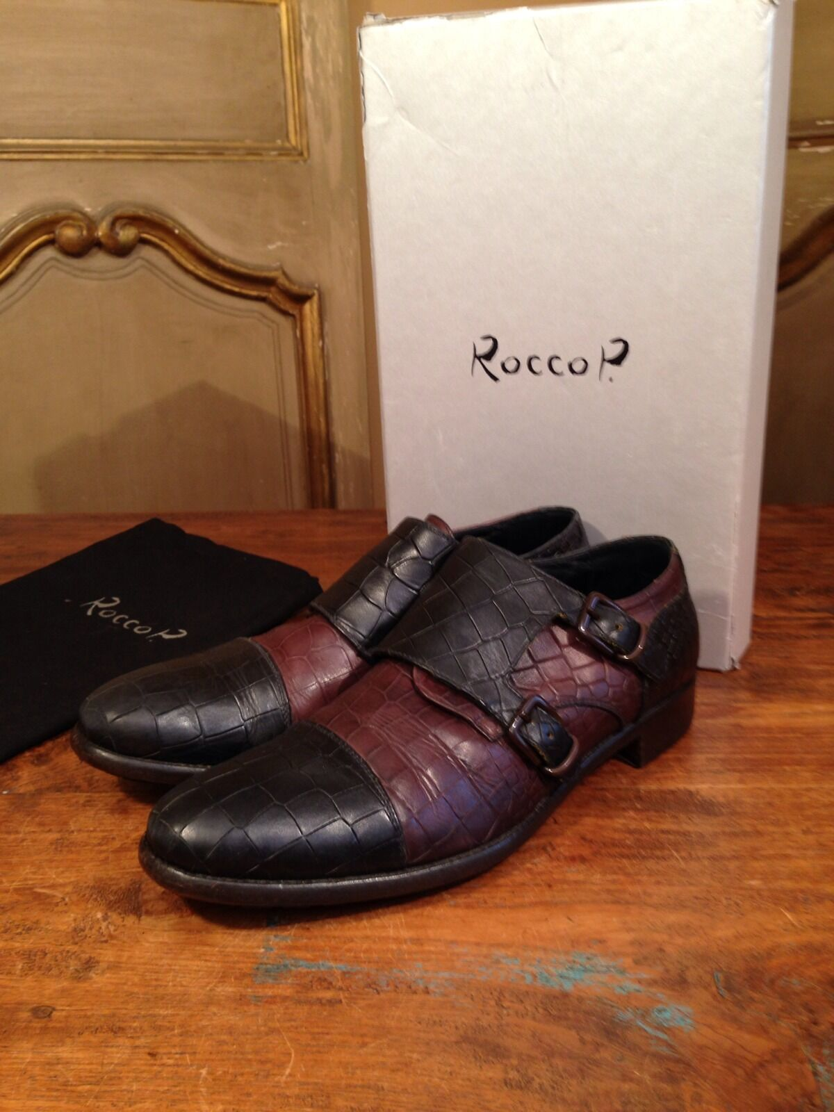 Rocco P Women's Side Buckle Crocodile Boots shoes Size Size Size 6.5 Euro 37 Enjoy 98e9a7
