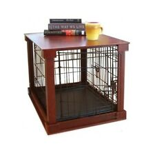 Furniture Pet Crate Dog Kennel Wood Large Size Cage Wooden End Side Table  Bed