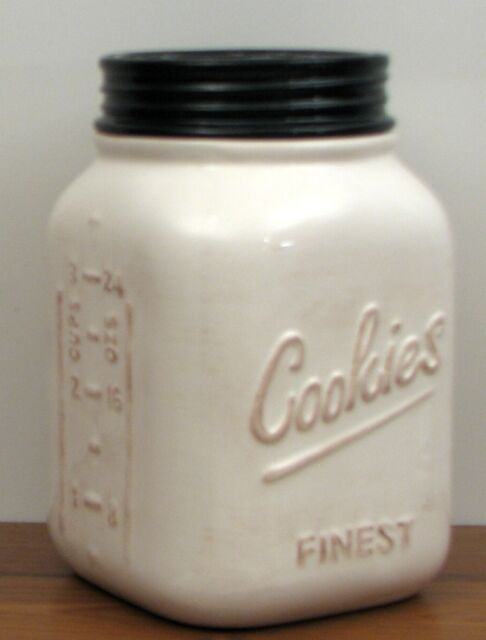 Rustic Cookie Jar Classy White Ceramic Mason Cookie Canning Jar Young's Country Kitchen