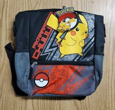 "Bioworld *POKEMON* 16/"" Printed School Backpack Book Bag Pikachu Yellow Black NWT"