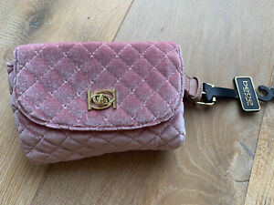 NWT Bebe Danielle pink velvet quilted belt or waist bag fanny pack, MSRP $69
