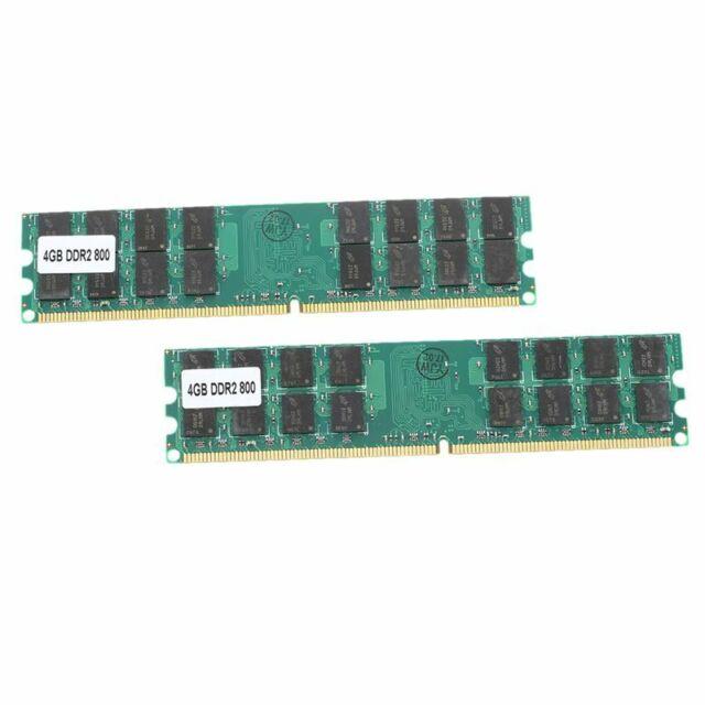 8G (2 x 4 G) Memoire RAM DDR2 PC2-6400 800MHz bureau non-ECC DIMM 240 broche Y3I