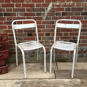 Industrial Vintage French Cafe Restaurant Bistro Tolix Garden Chairs - <span itemprop=availableAtOrFrom>Andover, Hampshire, United Kingdom</span> - Industrial Vintage French Cafe Restaurant Bistro Tolix Garden Chairs - Andover, Hampshire, United Kingdom