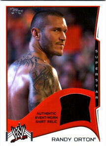 WWE-Randy-Orton-2014-Topps-Event-Used-Shirt-Relic-Card-Black-FD30