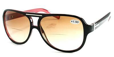 Unisex Bifocal Aviator Sunglasses in choice of Strengths and Colours with pouch