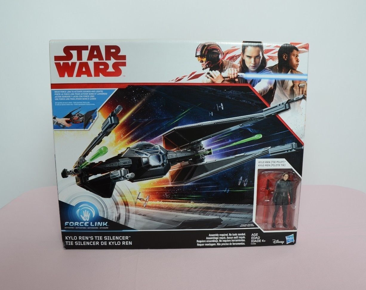 Star Wars Force Link Tie Silencer Silencer Silencer with Kylo Ren Figure Hasbro New TRU Exclusive 60236d
