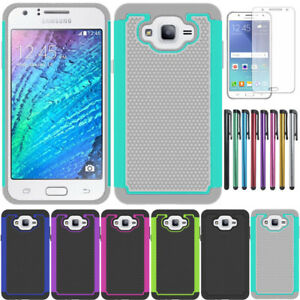 reputable site 6145c 61f97 Details about Rugged Hybrid Armor Case Cover with Screen Protector For  Samsung Galaxy J7 Core