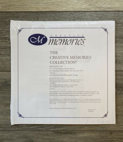 Creative Memories 12x12 ORIGINAL PORTRAIT SLEEVES NEW SEALED from OLD ALBUM