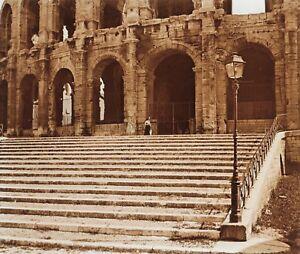 Arles Anfiteatro Francia Placca L17 Stereo Vintage Positivo 6x13cm