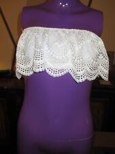 4f3f07c445 item 6 Victoria s Secret Crochet Lace Bandeau Bralette Strapless Bra WHITE  LARGE -Victoria s Secret Crochet Lace Bandeau Bralette Strapless Bra WHITE  LARGE