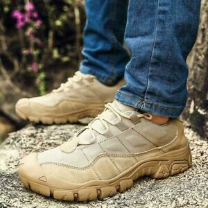 Hots Mens Outdoor Climbing Hiking Desert Shoes Military Tactical Combat  Boots   eBay