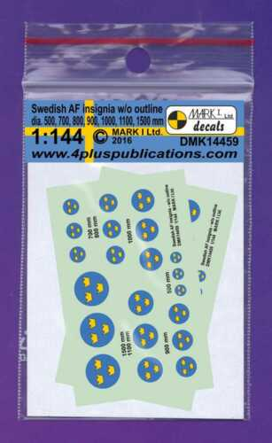 Mark I Decals 1//144 Swedish AF Insignia without Outline # 14459