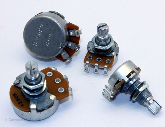 "Alpha potentiometers (""pots"") for guitar/bass volume/tone UK SELLER"