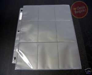 ULTRA-PRO-Collectible-Trading-Card-Plastic-9-Pocket-Page-Sleeve-x10-sleeves-NEW