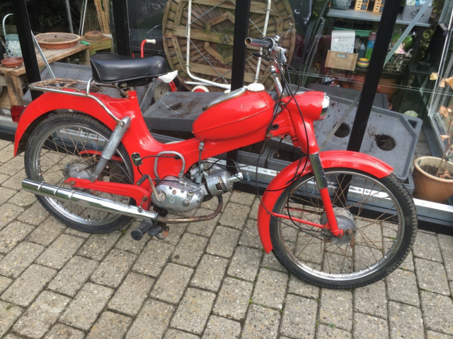 Puch MS  50, 1972, Rød, Puch MS 50 1972  Matching Numbers…