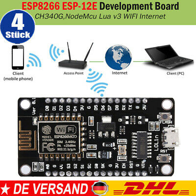 NODEmcu CP2102 ESP8266 V3 12E Arduino LUA AT Modul Board WLAN Modul WiFi PCB