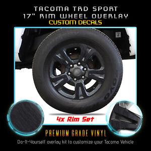 For-2016-2019-Tacoma-TRD-Sport-Rim-Wheels-x4-Vinyl-Wrap-Decals-Brushed-Aluminum