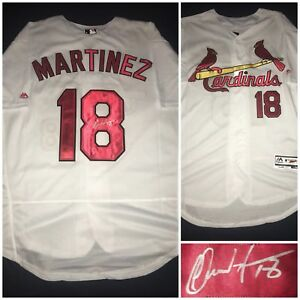 finest selection 42873 a4ebe Details about CARLOS MARTINEZ HAND SIGNED JERSEY ST LOUIS CARDINALS MLB Coa