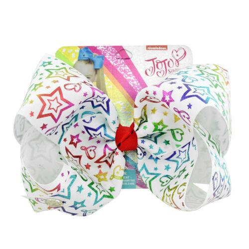 """8/"""" Cute Hair Bow Hair Clip White Pom pom Horn Rainbow Bow Hair Grip 25 Styles"""