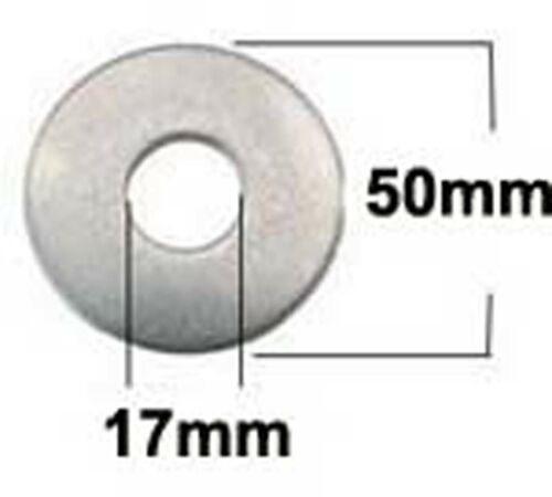 Repair Penny Washers x5 M16 x 50 Stainless Steel Mudguard 17mm x 50mm x 3mm