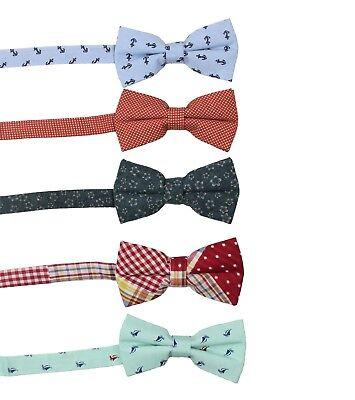 Men/'s Classic Fashion Gold Bow Tie /& Hanky Handkerchief Set 100/% Cotton #49