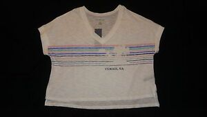 NWT-Tommy-Hilfiger-Women-039-s-V-Neck-Venice-Crop-Top-Size-Small-S