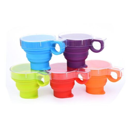 Outdoor Travel Silicone Retractable Folding Water Cup Telescopic Collapsible Cup