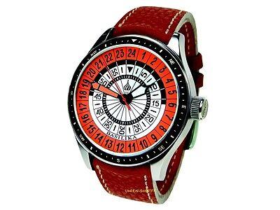 Poljot International 24 Stunden Uhr 2423.3001333 Handaufzug Saphirglas 5atm