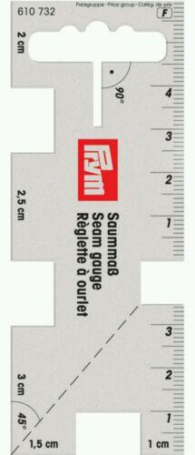 Prym Costura Calibre Tamaño 4cm X 10cm-herramienta Regla Flexible dobladillado-Máquina de coser