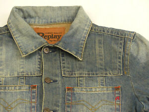 Stone Casual Jeans Rockabilly Di Come Tg Marca Blu Wash Replay Giacca Xl FW04SqRRw