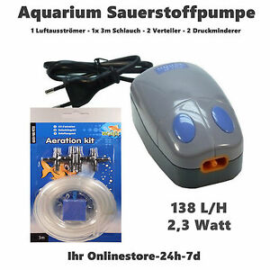 membranpumpe bel fter sauerstoffpumpe aquarium 140 l std maus pumpe luft set ebay. Black Bedroom Furniture Sets. Home Design Ideas