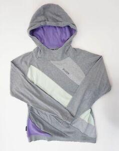 mazine Damen Hoodie Kapuzenpullover Gr.L grau gestreift Baumwolle -P1151