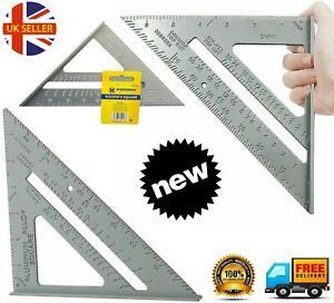New-7-034-Steel-Roofing-Roofer-Square-Carpenters-Wood-Working-7-Inch-Alloy-Tool-k11