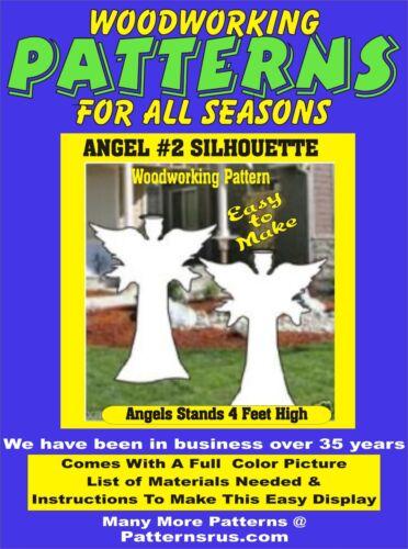 ANGEL SILHOUETTE #2   A366 CHRISTMAS WOODWORKING PATTERN yard art  patternsrus