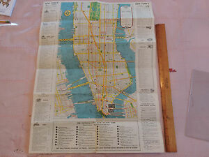 Irt Nyc Subway Map.Details About Rare Map 1950s Nyc New York City Nyc Brooklyn Subway Map Irt Bmt Ind