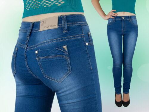 JEANS Donna Pantaloni Jeans Pantaloni Gamba Dritta normale seduti BLU 36 38 40 42