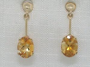 Citrin-Ohrhaenger-585-Gelbgold-14Kt-Gold-facettierte-natuerliche-Citrine