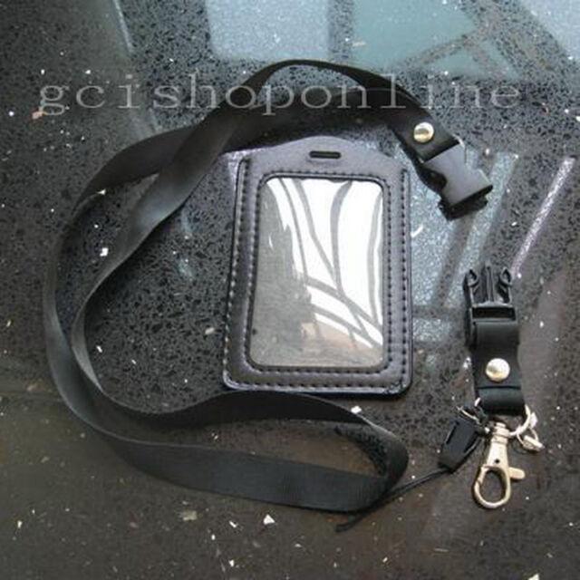 1 Business ID Card Badge Holder Vertical + 1 Lanyard VL