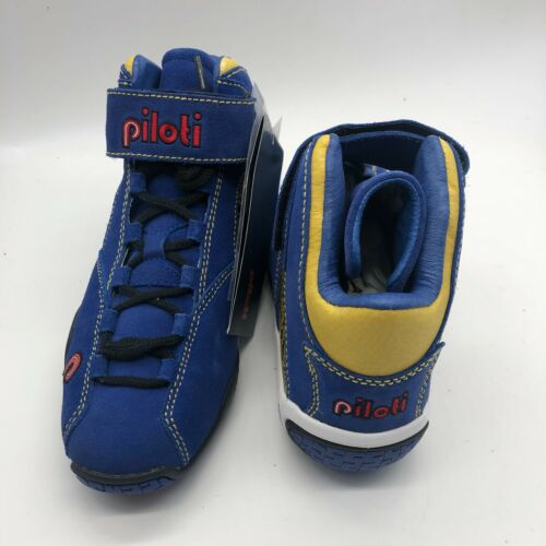 New Piloti RSR Mid Driving Racing Lace Up Shoes Blue $199