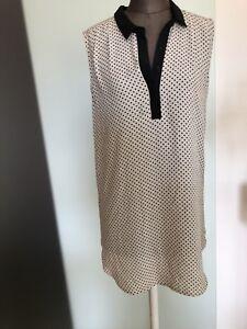 Details zu Minikleid Chiffon Kleid Long Shirt Gr 34 36 XS Von H&M